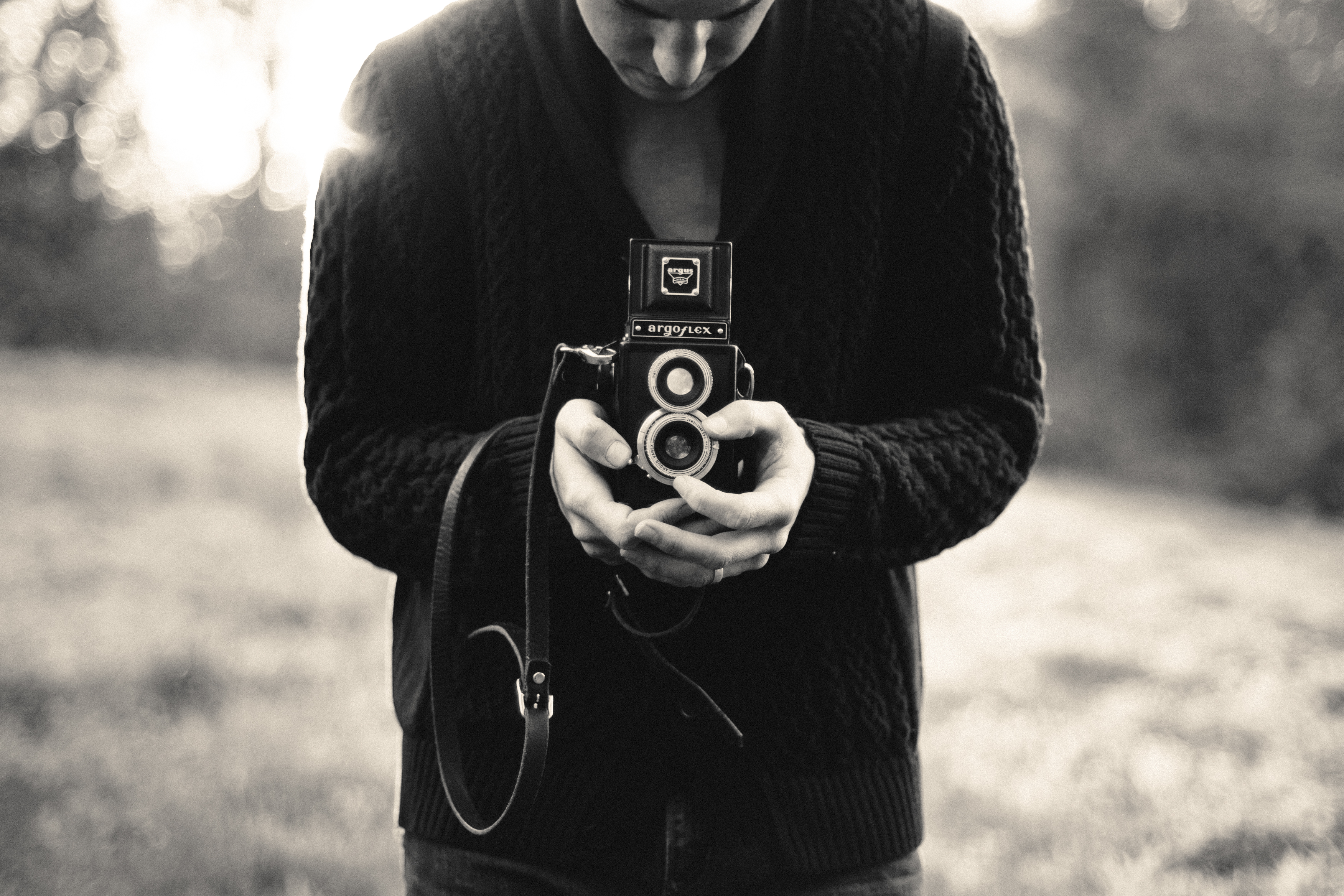 Vintage Camera And Professional Photographer